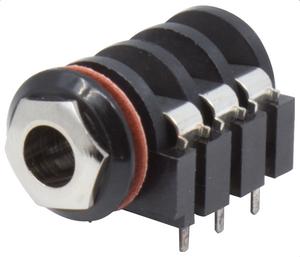 Bilde av Jack chassi stereo - plast - 6 PCB terminaler